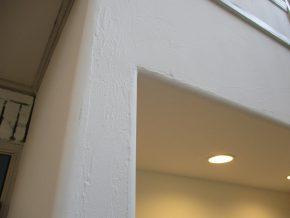 壁の出隅がアール加工
